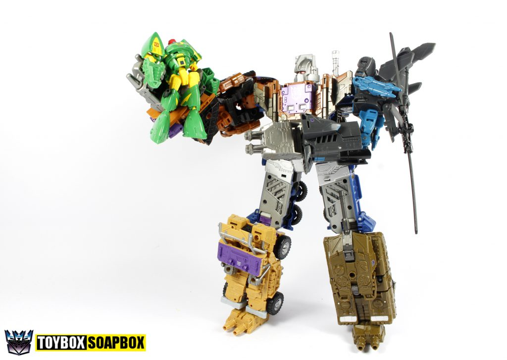 unite warriors bruticus vs cosmos