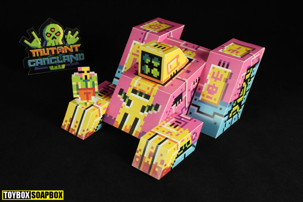 thundermoar mutant gangland papercraft model kit